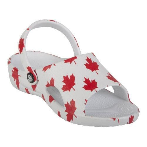 a1aff36c5 Shop Children s Dawgs Loudmouth Slide Canada White Red - Free Shipping On  Orders Over  45 - Overstock - 17228482
