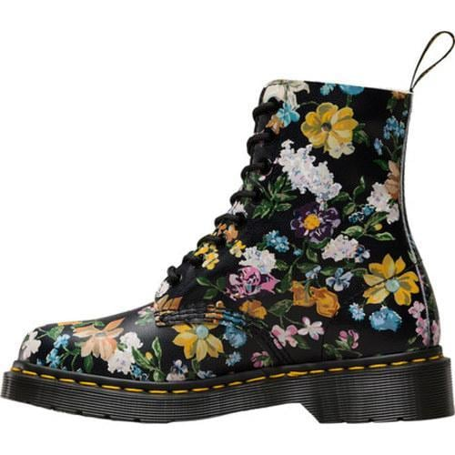 Dr. Martens Pascal 8-Eye Boot Black Darcy Floral Backhand Full Grain Leather - Thumbnail 2