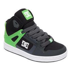 Boys' DC Shoes Rebound SE Glow in the Dark High Top Sneaker Green/Black/White