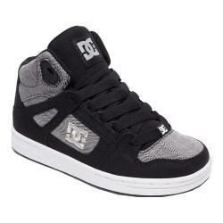 Boys' DC Shoes Rebound TX SE Skate Shoe Black/Grey/Black