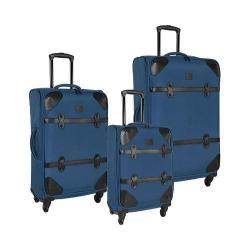 Women's Diane von Furstenberg Julie 3-Piece Luggage Set Faded Indigo/Black