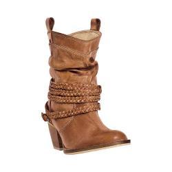 Women's Dingo Twisted Sister Slouch Boot DI682 Tan Buffalo Calf Leather
