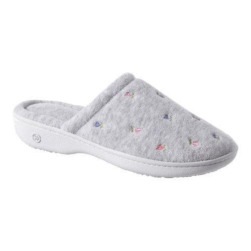 Isotoner Terry Floral Embroidered Clog (Women's) p6THPqy