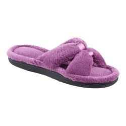 Women's Isotoner Microterry Satin X-Slide w/Memory Foam Ultraviolet