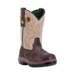 Children's John Deere Boots Everyday Child Growin' Like a Weed Pull-On 2417 Brown/Grey Leather