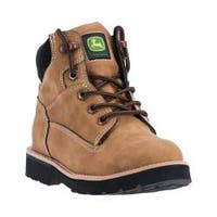 Children's John Deere Boots Everyday Child Round Toe Hiking Boot 2092 Tan Synthetic Leather