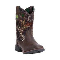 Children's John Deere Boots Everyday Child Square Toe Western Boot 2043 Brown/Camo Synthetic Leather