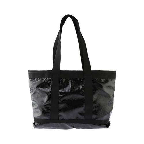 Women's LeSportsac Medium Travel Tote Black Crinkle Patent | Overstock com  Shopping - The Best Deals on Tote Bags