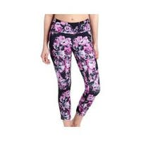 Women's Lole Eliana Cropped Leggings Black Spring Bloom