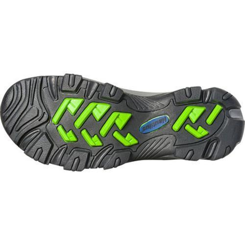 Men's Nautilus N2202 Steel Toe Waterproof EH Hiking Boot Grey/Lime Mesh/Action Nubuck Leather - Thumbnail 1