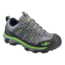 Men's Nautilus N2208 Steel Toe Waterproof EH Athletic Work Shoe Grey/Lime Mesh/Action Nubuck Leather