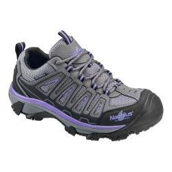 Women's Nautilus N2258 Steel Toe Waterproof EH Athletic Work Shoe Grey/Purple Mesh/Action Nubuck Leather