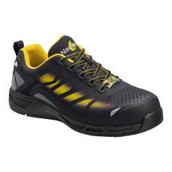 Men's Nautilus N2436 Composite Toe Adv ESD Athletic Work Shoe Black/Yellow Mesh/Synthetic