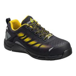 Men's Nautilus N2436 Composite Toe Adv ESD Athletic Work Shoe Black/Yellow Mesh/Synthetic