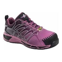 Women's Nautilus N2471 Composite Toe Adv ESD Athletic Work Shoe Purple Mesh/Synthetic