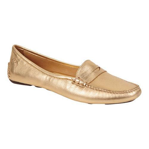 Women's Patricia Green Bristol Leather Penny Loafer Gold Metallic  Leather