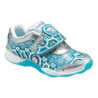 Girls' Stride Rite Disney Eternal Winter A/C Sneaker - Kid Silver/Turquoise Leather/Mesh
