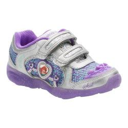 Girls' Stride Rite Disney Under The Sea A/C Sneaker - Kid Purple Leather/Sequins