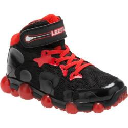 Boys' Stride Rite Leepz 2.0 High Top Light Up Sneaker - Preschool Black/Red Leather/Mesh