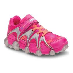 Girls' Stride Rite Leepz Light Up Sneaker Pink Leather/Mesh