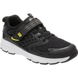 Boys' Stride Rite M2P Breccen Sneaker Black Leather/Mesh