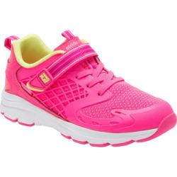 Girls' Stride Rite M2P Cannan Sneaker Bright Pink Leather/Mesh