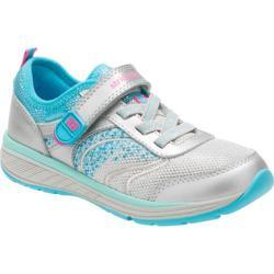 Girls' Stride Rite M2P Ellie Sneaker - Preschool Silver Leather/Textile