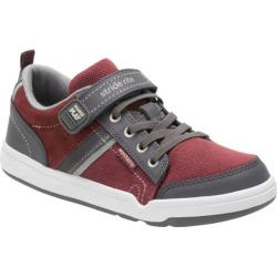 Boys' Stride Rite M2P Kaleb Sneaker Oxblood Leather/Textile