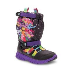 Girls' Stride Rite M2P My Little Pony Sneaker Boot Black/Rainbow Nylon