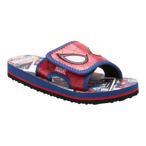 a8fc7ed2b Shop Boys  Stride Rite Spectacular Spider-Man Slide Red Royal Leather Mesh  - Free Shipping On Orders Over  45 - Overstock - 17229072