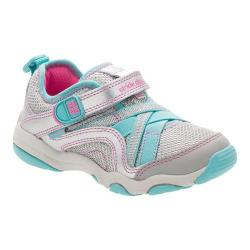 Girls' Stride Rite Made 2 Play Serena Sneaker Silver/Blue Leather/Mesh