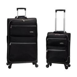 Rockland Gravity 2 Piece Lightweight Luggage Set Black