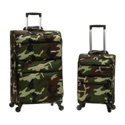 Rockland Gravity 2 Piece Lightweight Luggage Set Camo