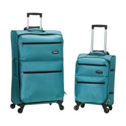 Rockland Gravity 2 Piece Lightweight Luggage Set Turquoise