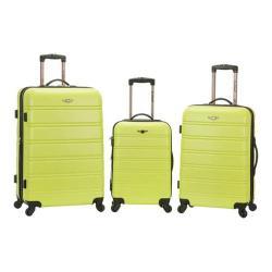 Rockland Melbourne 3 Piece Luggage Set Lime