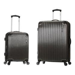 Rockland Santorini 2 Piece Spinner Luggage Set F235 Gray