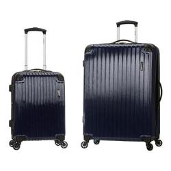 Rockland Santorini 2 Piece Spinner Luggage Set F235 Navy