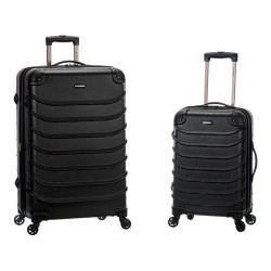 Rockland Speciale 2 Piece Spinner Luggage Set F230 Black