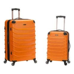 Rockland Speciale 2 Piece Spinner Luggage Set F230 Orange
