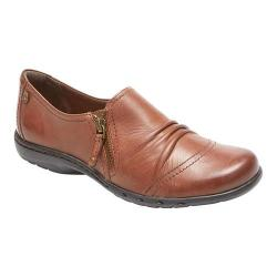 Women's Rockport Cobb Hill Penfield Zip Shoe Almond Leather