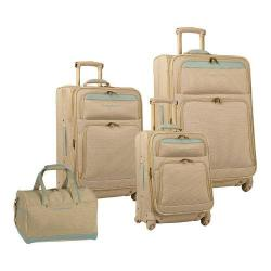 Women's Tommy Bahama Bahama Mama 4 Piece Luggage Set Champagne/Light Blue