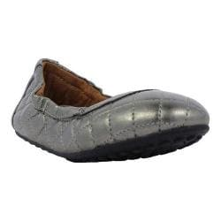 Girls' Umi Clea Big Girl Flat Pewter Leather