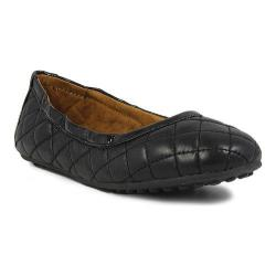 Girls' Umi Clea Little Girl Flat Black Leather/Synthetic