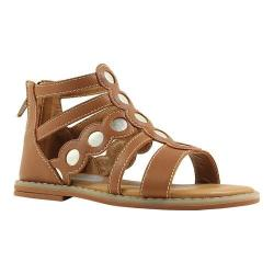 Girls' Umi Meda Open Toe Sandal Saddle Tan Leather