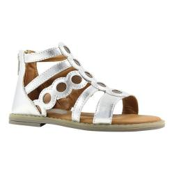 Girls' Umi Meda Open Toe Sandal Silver Multi Leather