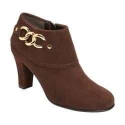 Women's A2 by Aerosoles First Role Bootie Brown Faux Suede