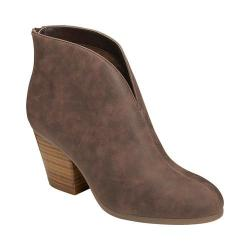 Women's A2 by Aerosoles Gravity Ankle Boot Brown Faux Suede