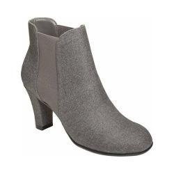 Women's A2 by Aerosoles Strole Along Ankle Boot Grey Wool/Elastic