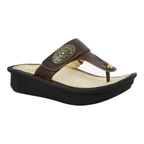 4aad8334d661 Shop Women s Alegria by PG Lite Carina Platform Thong Sandal Hickory  Leather - Free Shipping Today - Overstock - 17260276