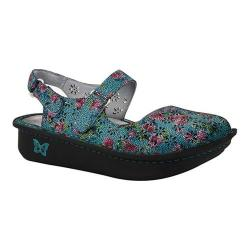 Women's Alegria by PG Lite Jemma Perforated Mary Jane Aqua Flora Leather